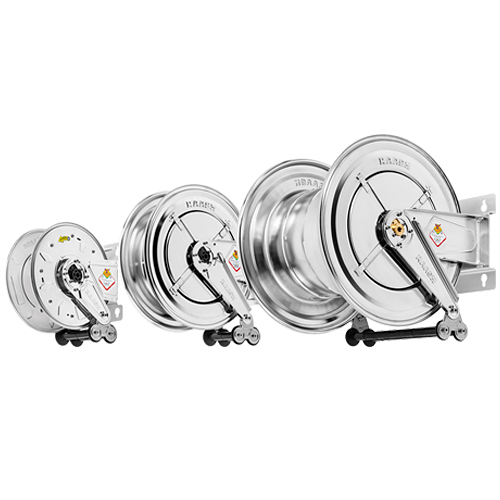 AISI 304 stainless steel hose reels - without hose
